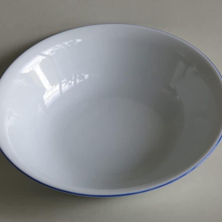 Schüssel Olympia mit blauem Rand