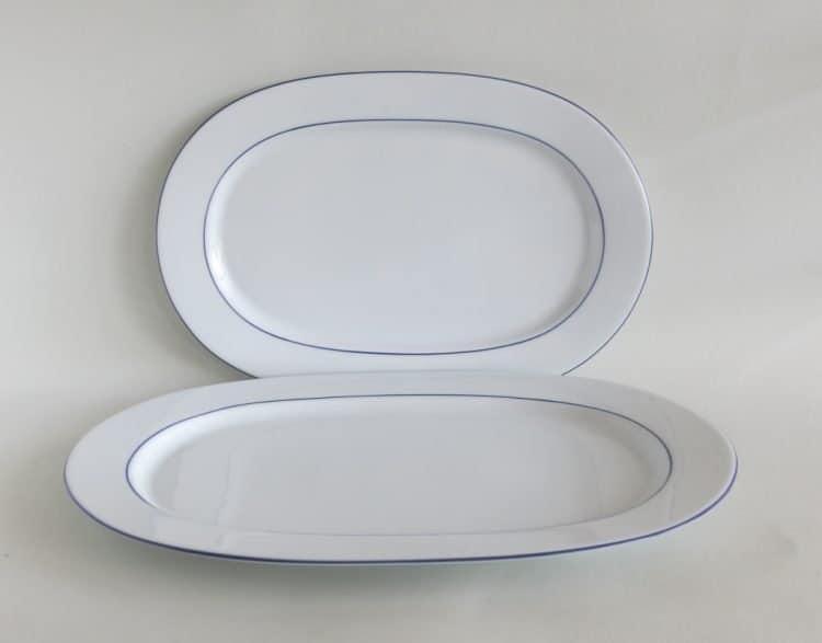 Blaurandplatten Porzellanserie Opty 33 cm und 38 cm