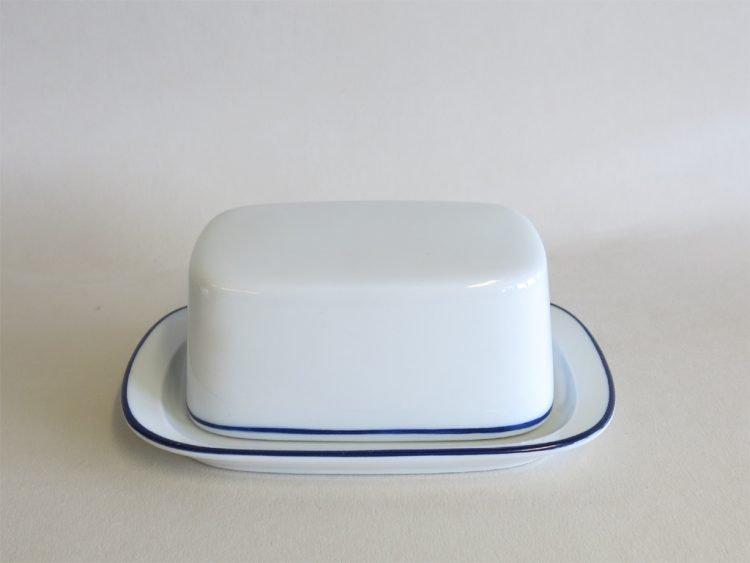 Butterdose für 125 gr mit blauem Rand