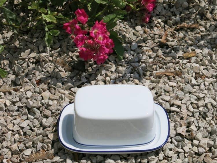Butterdose König Blaurand klein für 125 gr Butter