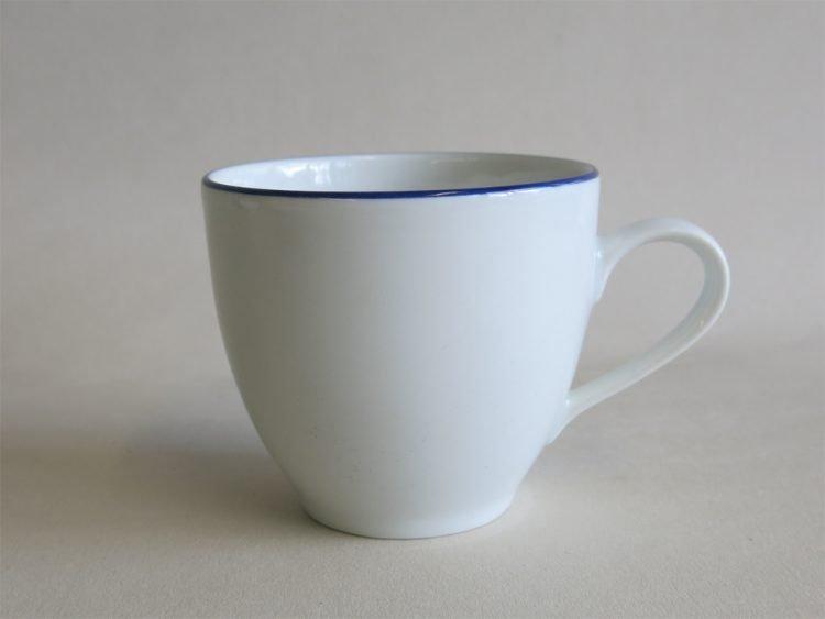 Einzeln erhältlich klassische Kaffeetasse Ole mit Blauem Rand