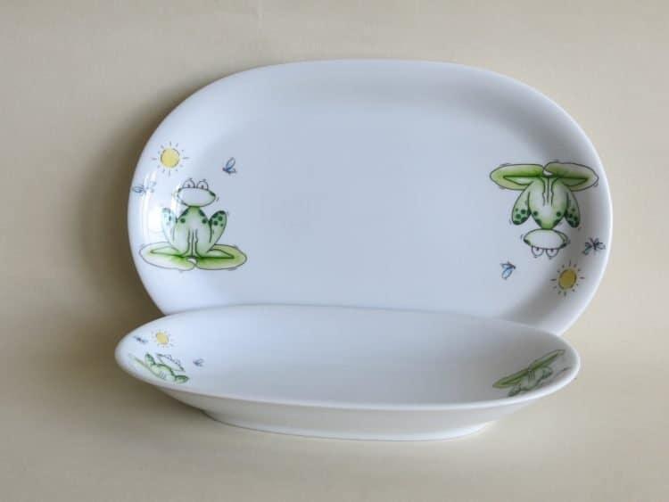 Kindergartenporzellan Platten frosch