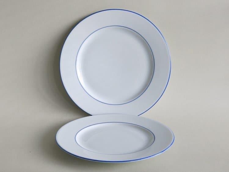 Abendbroteller Opty 20 cm und 21 ,5 cm Opty mit blauem Rand