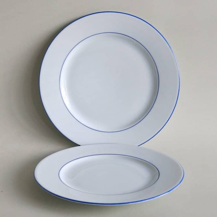 Blaurand Essteller 25 cm und 27 cm