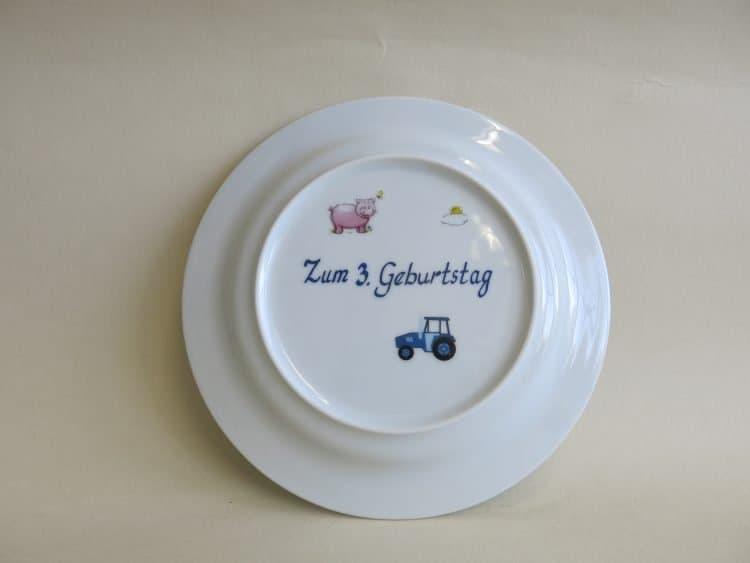 Widmung Zum Gebruststag auf Porzellan. Essgeschirr als Geschenk Personalisiert