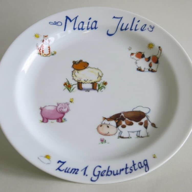 Widmungen auf Porzellan Zum Geburtstag mit Namen und Motiv personalisiert