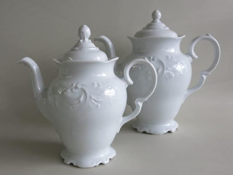 Romantische Porzellan Kaffeekannen 1,2l aus der Porzellanserie Friederike