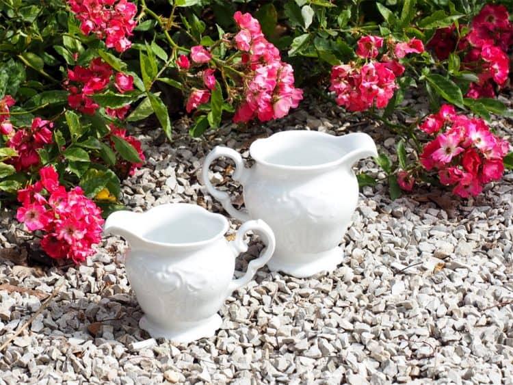 Milchgießer oder Sahnekännchen Porzellanserie Friederike