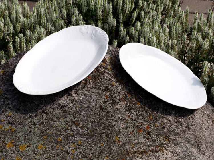 Ovale Platte 38 cm jund 33 cm Friederike Reliefoptik Roncaille