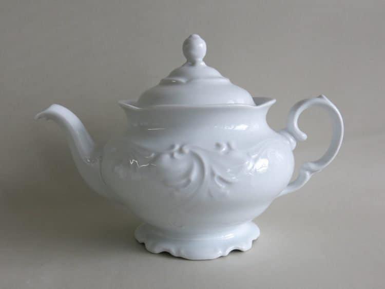 Verspielte Teekanne Porzellanserie Friederike