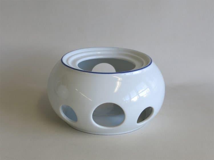 Stövchen blau gerändelt passend zur Teekannen olympia Blaurand 1,2l