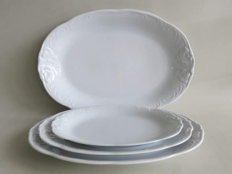 Weiße Porzellan Vorlegeplatten Friederike orzellan Platten Friederike