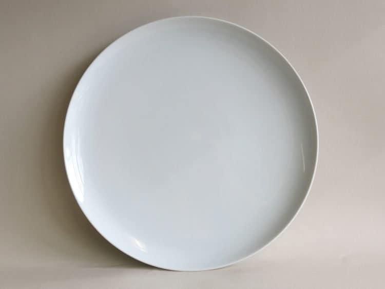 Platzteller oder Platte Ole 31 cm aus Porzellan in weiß