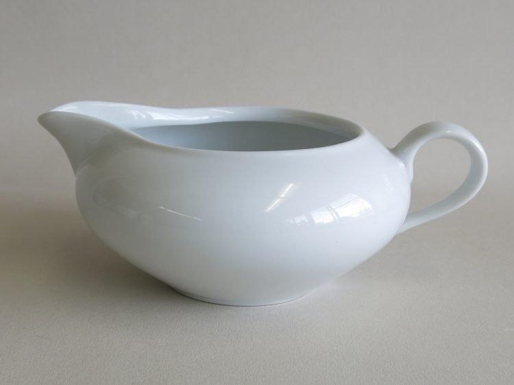 Sauciere weißes Porzellan Olymia 400ml