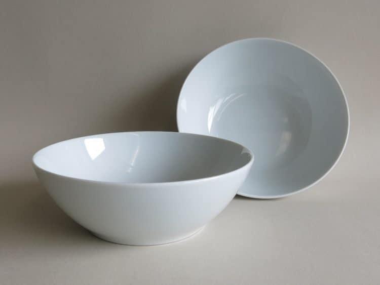 Schüssel 17 cm Ole aus Porzellan in weiß