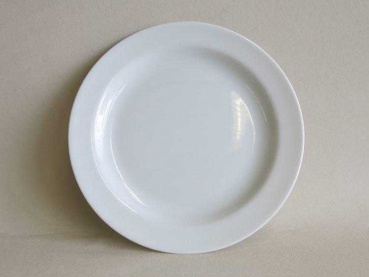 Teller Olympia 19 cm aus weißem Porzellan