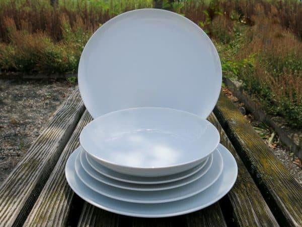 Essteller Suppenteller der Porzellanserie Ole in weiß