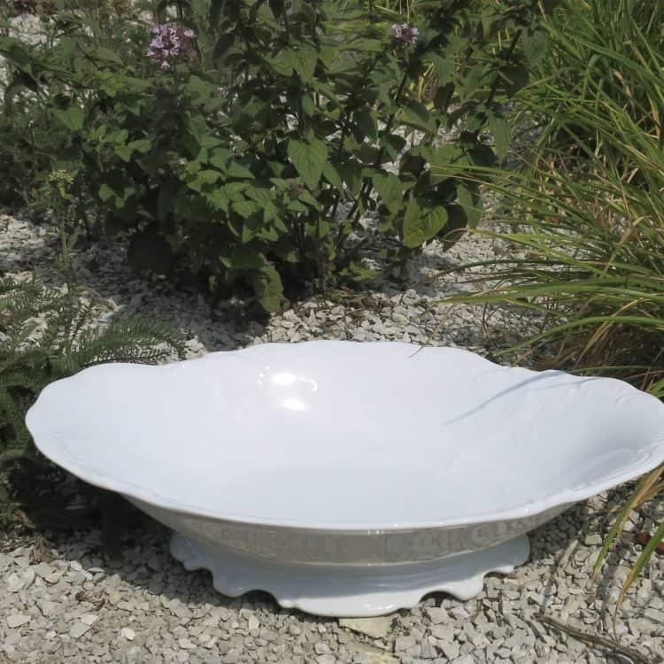 Brotkorb Friederike aus weißem Porzellan