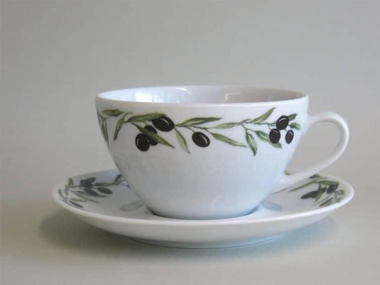 Tassen Olive: Teetassse Carlo Olivendekor