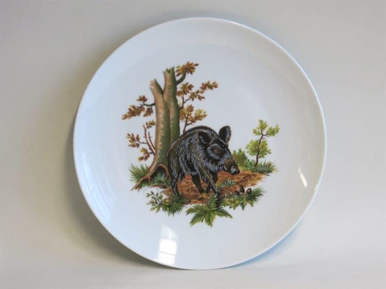 Glatter Essteller Ole 24 cm mit Jagdmotiv Wildschwein