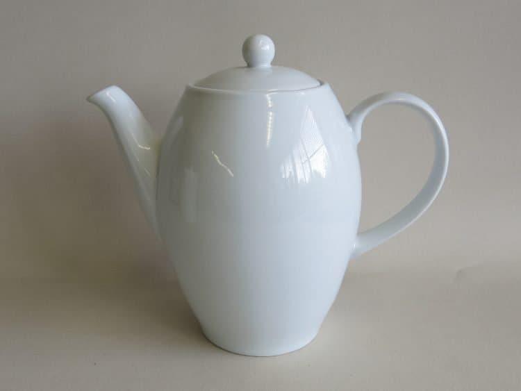 Kaffeekanne Olympia 1,15 l weißes Porzellan