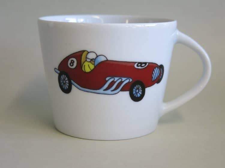 Krippenkinder Tasse Clio Rennwagen