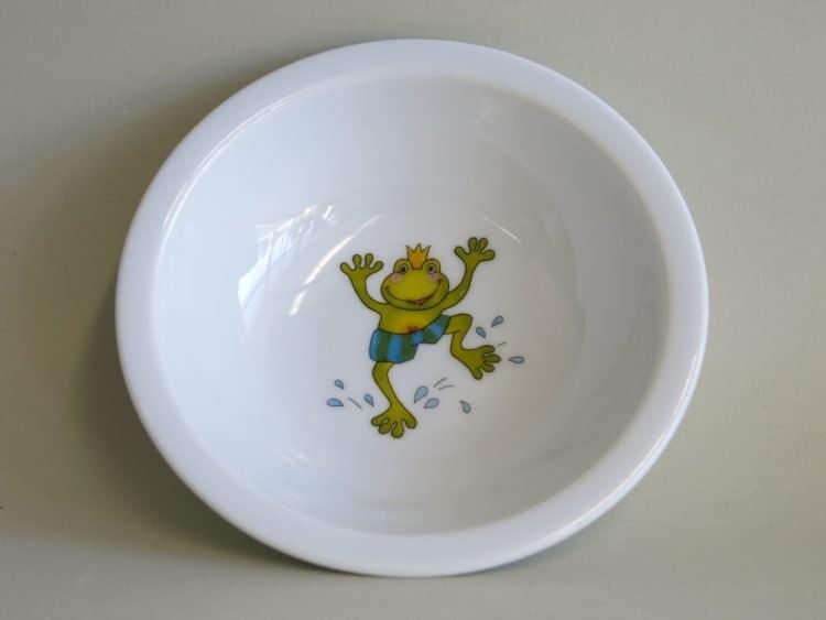 Kindergartenporzellan Schüsseln 13 cm Froschkönig