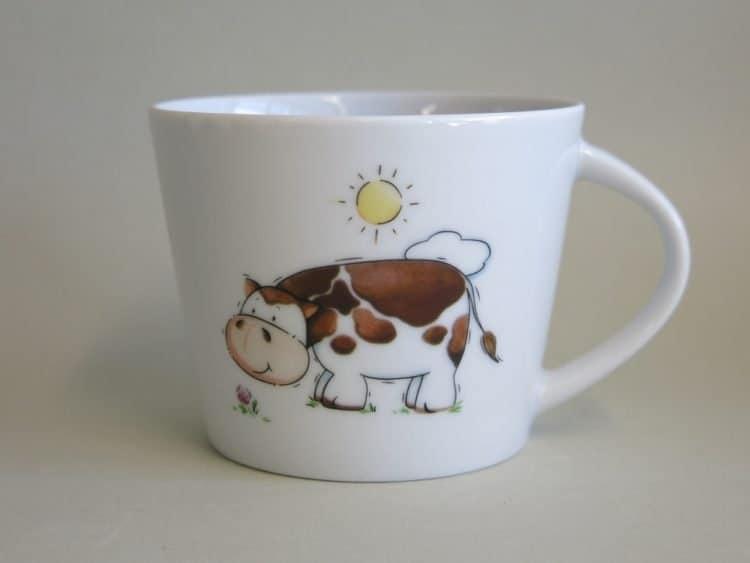 Tasse für Krippenkinder Clio Kuh Kindergartenporzellan