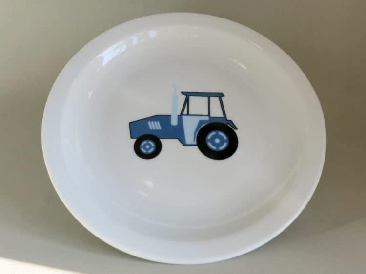 Kindergartenporzellan Teller Scandia 19 cm Traktor