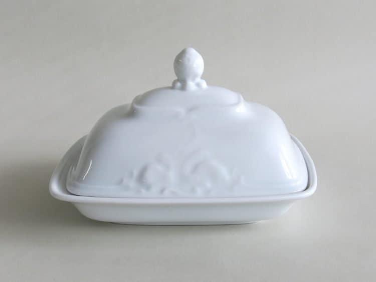 Porzellan Butterdose Friederike mit tiefem Unterteil für 250 gr.