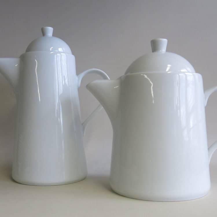 Moderne Porzellan Teekanne und Kaffeekanne Opty 1,2 l