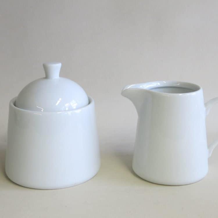 Porzellan Zuckerdose u. Milchgießer Opty 250 ml