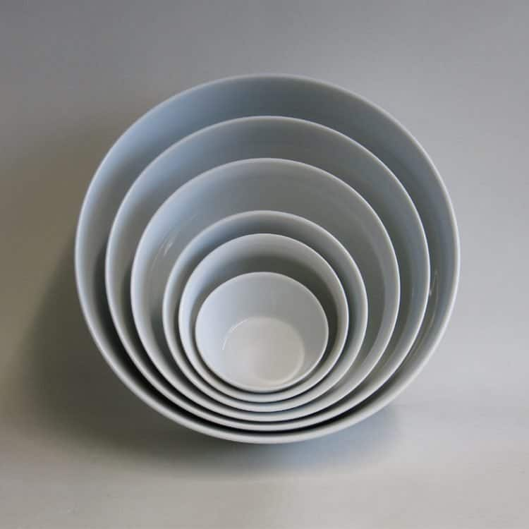 Schüsselsatz Porzellan weiß Opty 8 cm - 26 cm