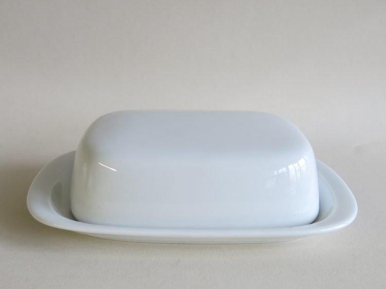 Weiße Porzellan Butterdose König groß für 250 gr. Butter