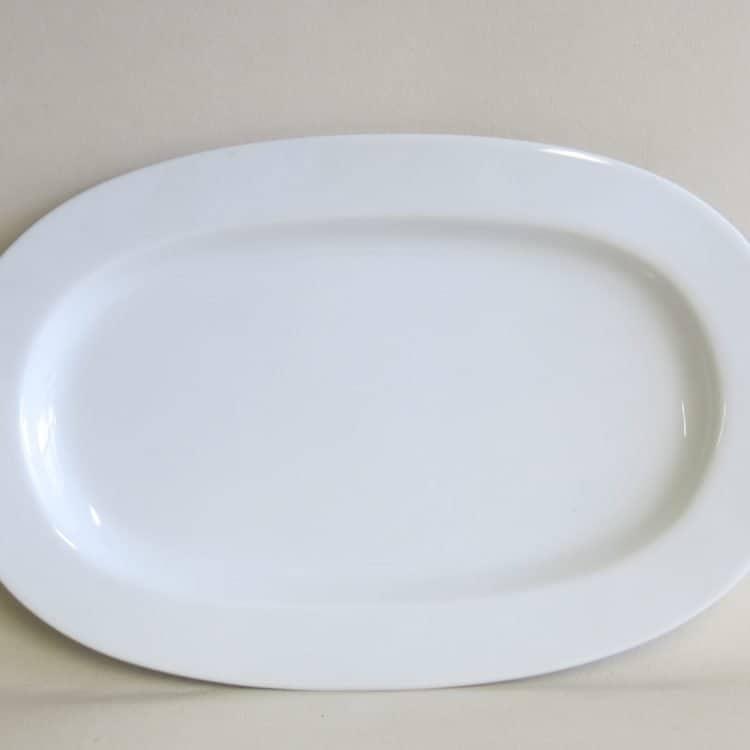 Weiße Porzellan Servierplatte Opty 33 cm