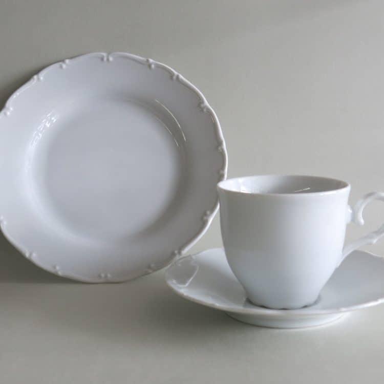 Dreiteiliges Gedeck Ofelie Kaffeetasse, Unterteller und Teller