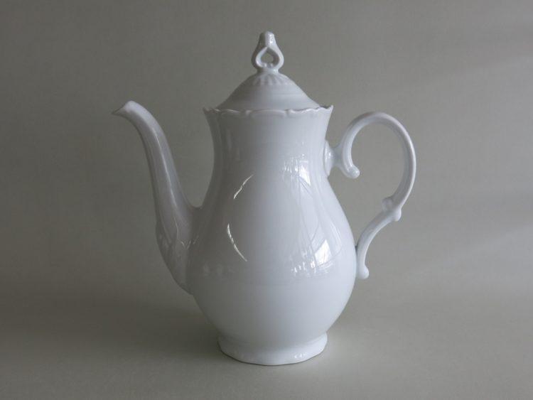 Kaffeekanne Ofelie 1,2 Liter aus weißem Porzellan