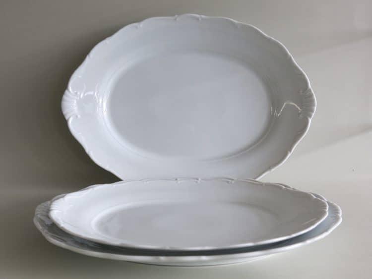 Drei Platten Ofelie aus Porzellan
