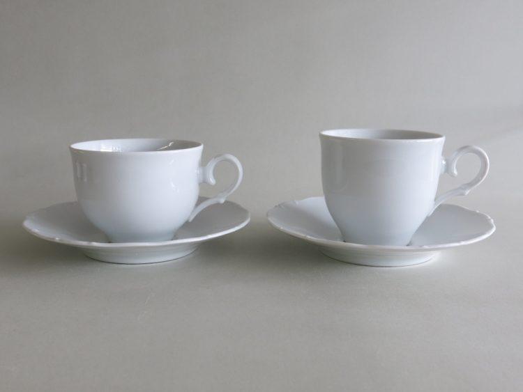 Teetasse und Kaffeetasse mit Unterteller Ofelie