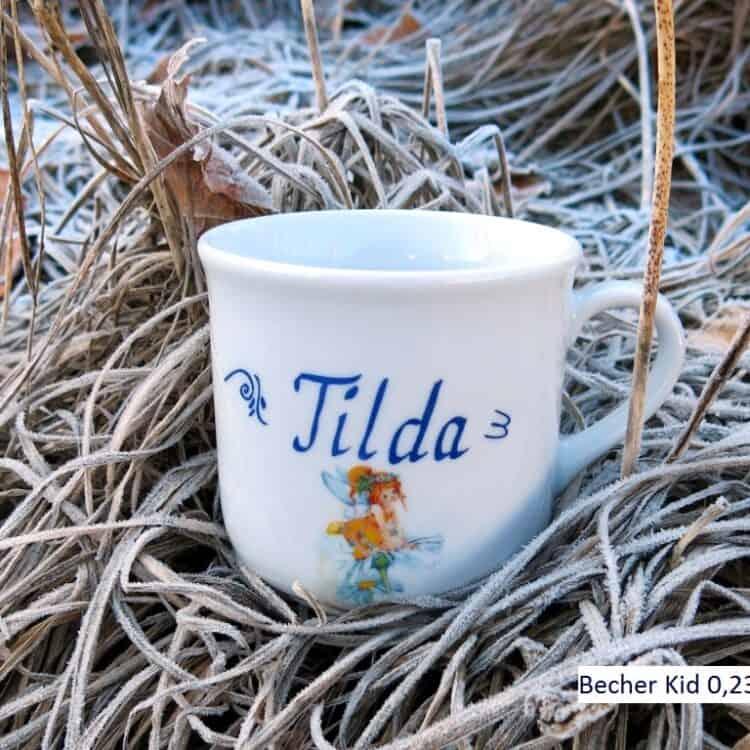 Kinderbecher 230 ml mit Namen und Elfe Margaritha Sonnenschein