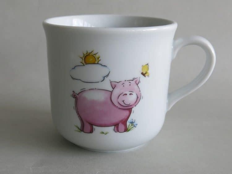 Kinderbecher 230 ml mit Schwein und Sonne