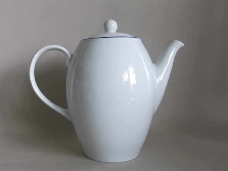 Blaurand Porzellan Kaffeekanne 1,2 l