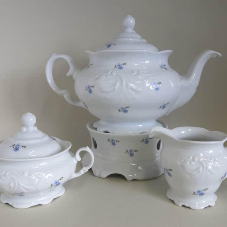 Friederike Vergissmeinnicht Teekanne stövchen Milchgießer Zuckerdose Teekanne stövchen Milchgießer Zuckerdose