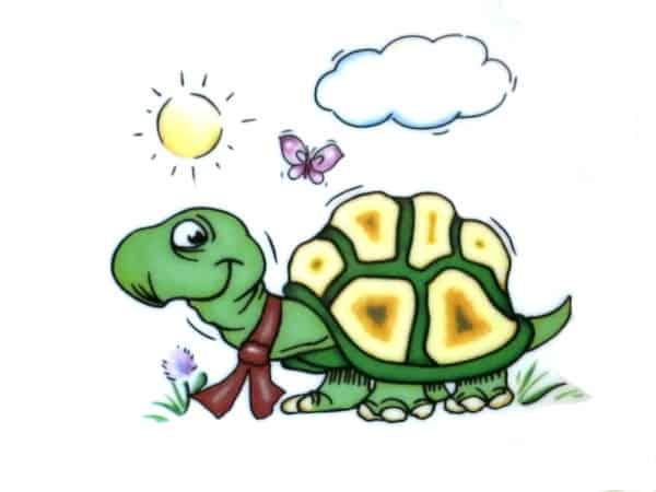 Kindergarten Porzellan Motiv Schildkröte