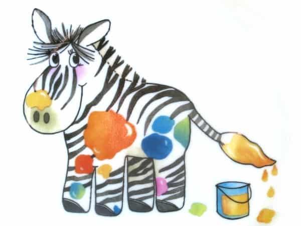 Kindergarten Porzellan Motiv Zebra