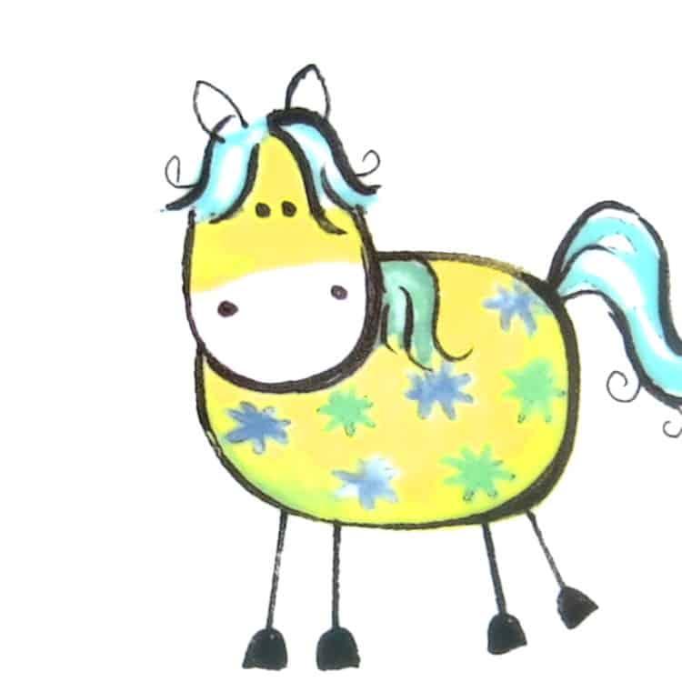 kunterbunt Pferdchen gelb