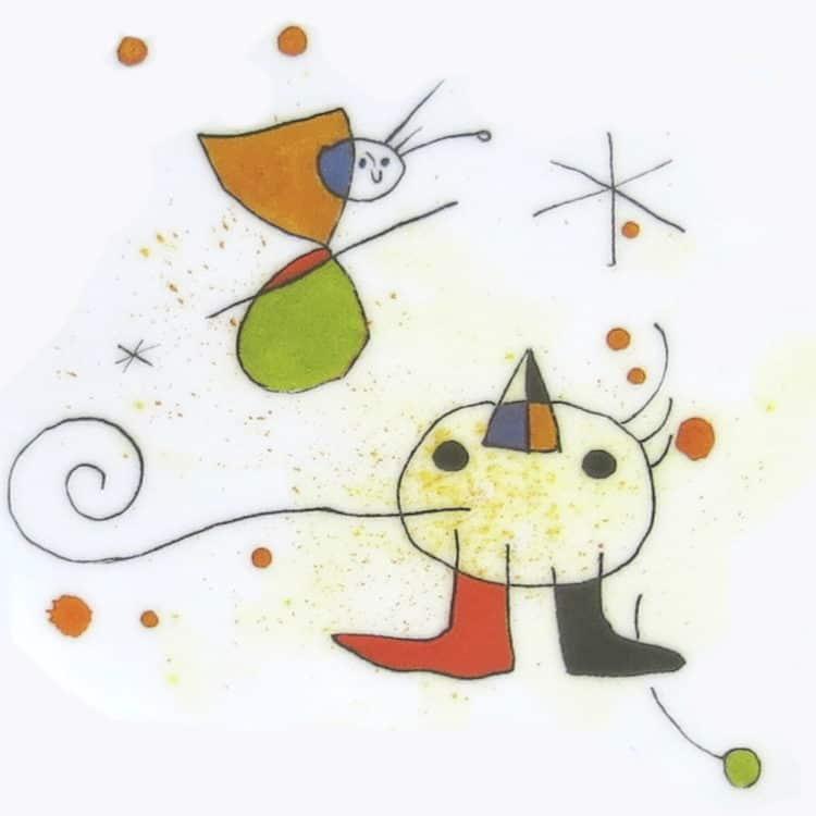 Vogel Motiv angelehnt an den Künstler Miro