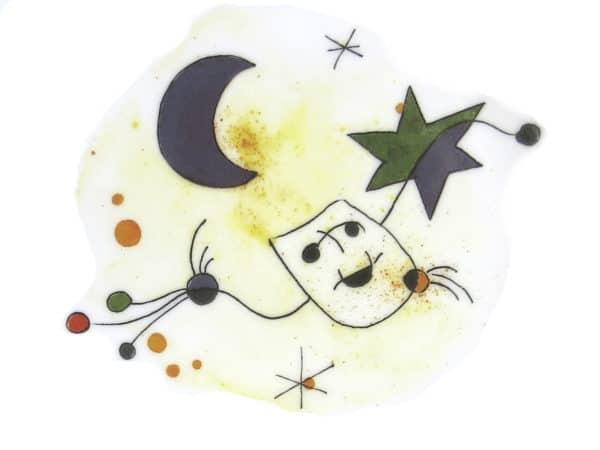 Sternenhimmel und Masken Motiv angelehnt an den Künstler Miro