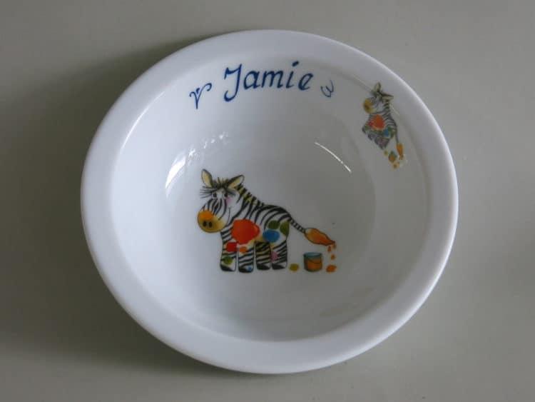 Kinderset Porzellan Müslischüssel 16 cm Zebra