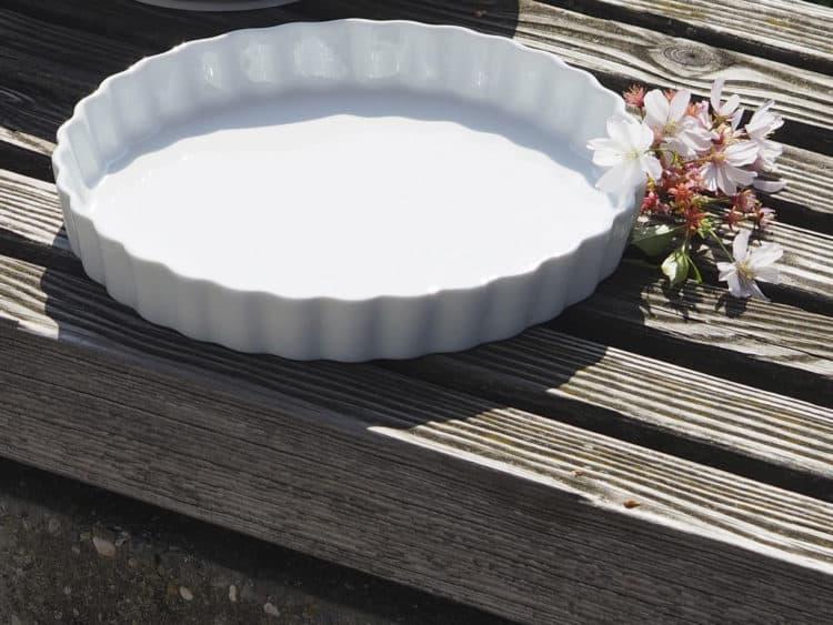 Pizzaform 27 cm Porzellan weiß